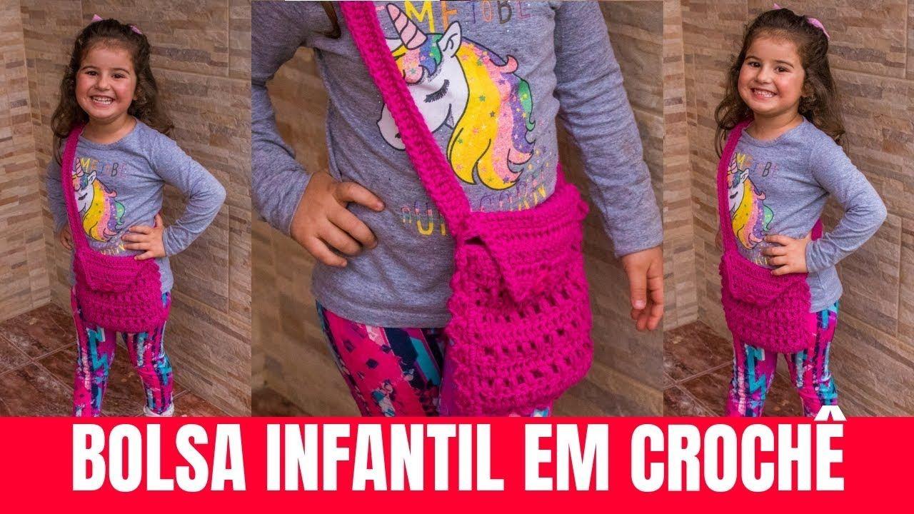 Como Fazer Bolsa de Crochê Infantil