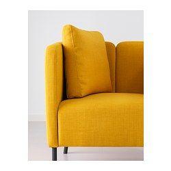 IKEA - EKERÖ, Fauteuil, Skiftebo geel, , Het keerbare rugkussen geeft een zachte ondersteuning van de rug en is bovendien aan beide kanten te gebruiken.Het losse kussen is verplaatsbaar, zodat je het kan aanpassen aan je eigen zitstijl.Gratis 10 jaar garantie. Raadpleeg onze folder voor de garantievoorwaarden.