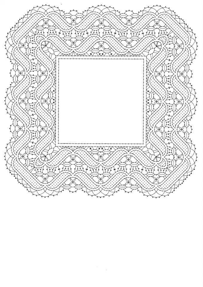 Pañuelo | Bobbin Lace Patterns | Pinterest | Bolos, Encaje de ...