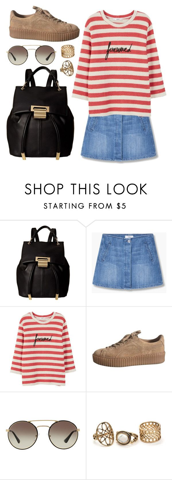 """Untitled #629"" by cece-cherry ❤ liked on Polyvore featuring Ivanka Trump, MANGO, Prada, mango, summeroutfits, skirtoutfit and mangooutfit"