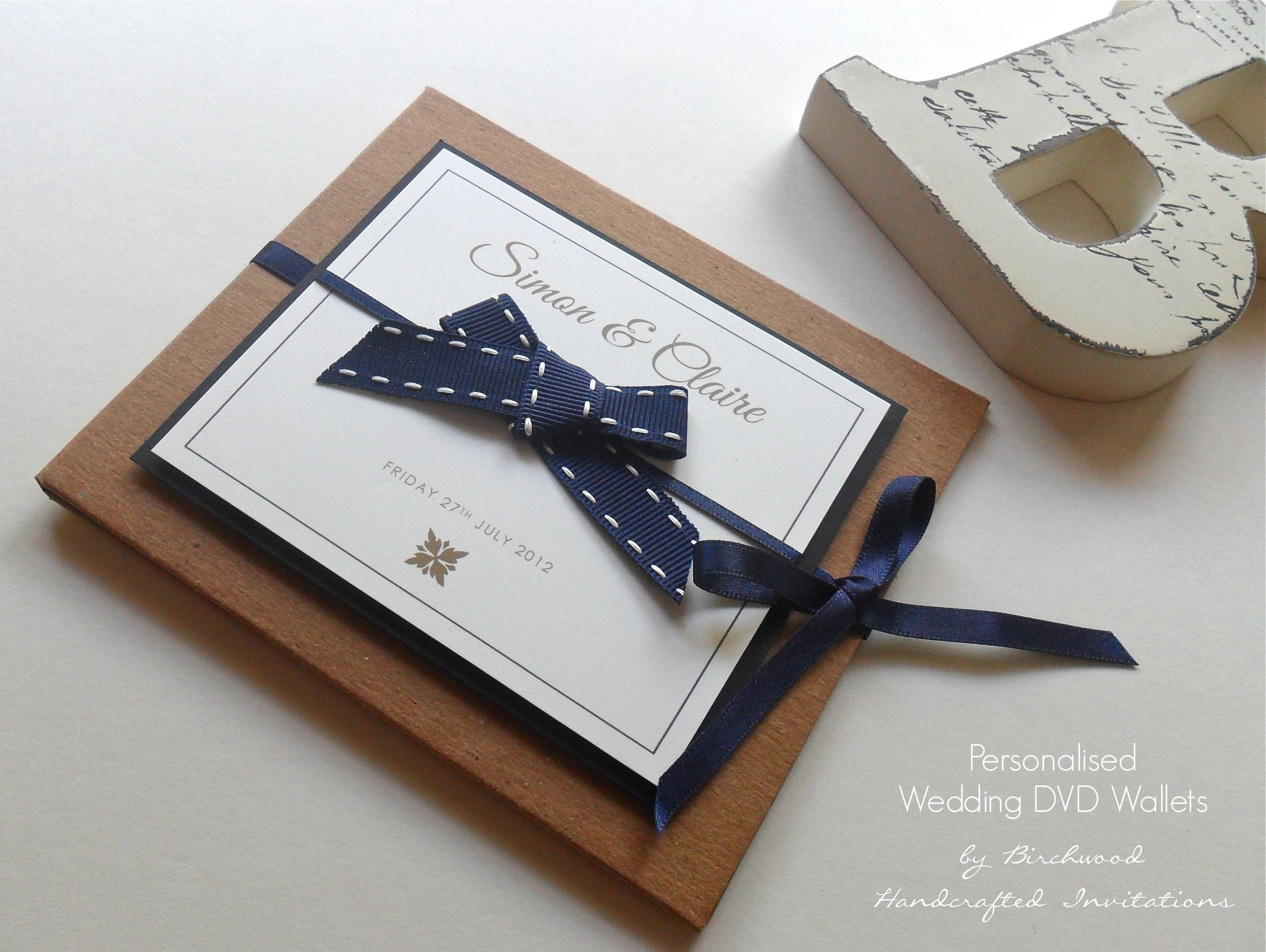 Personalised Wedding Cd Dvd Wallets This Design Is Also Available As Invitations