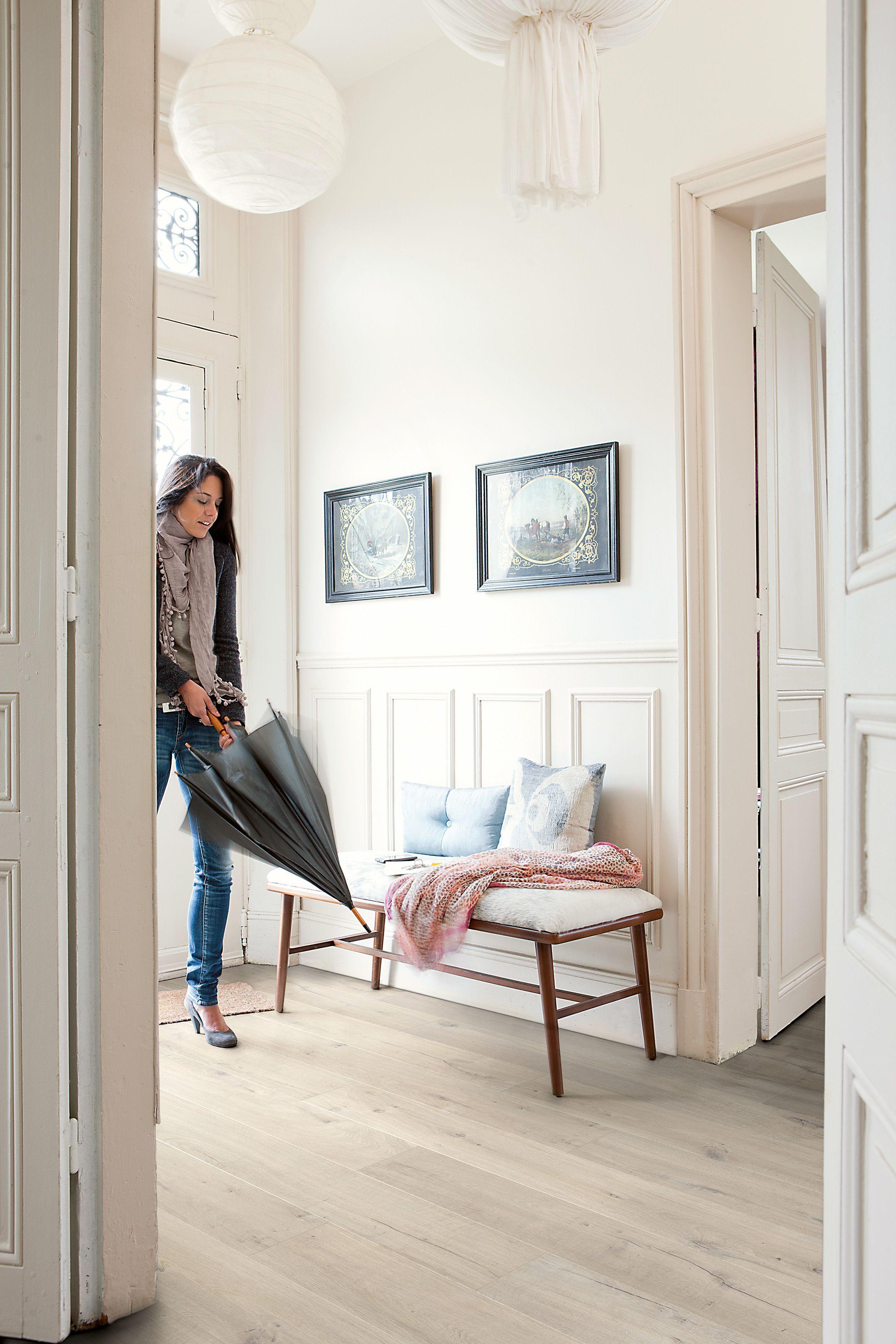 Soft Kitchen Flooring Aquanto Oak Light Grey Brushed Effect Laminate Flooring 1835 Ma2