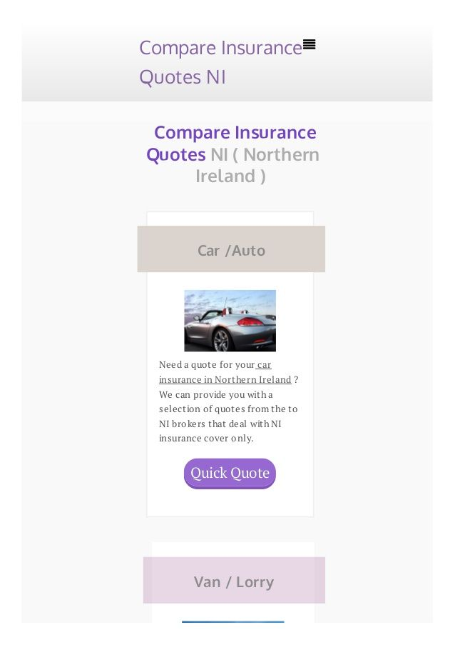 Http Www Insurancequotesni Co Uk Live In Northern Ireland And