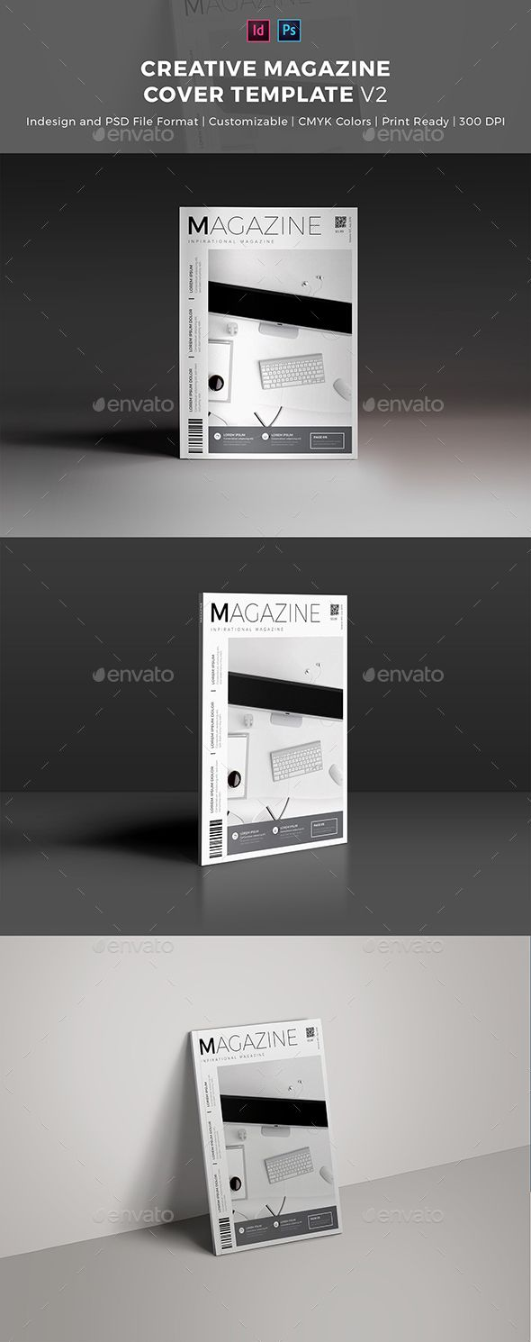 Creative Magazine Cover Template | Magazine cover template, Template ...