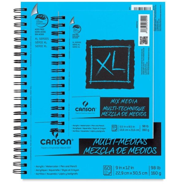 Canson Xl Mix Media Pads Sketch Book Mixed Media Art Materials