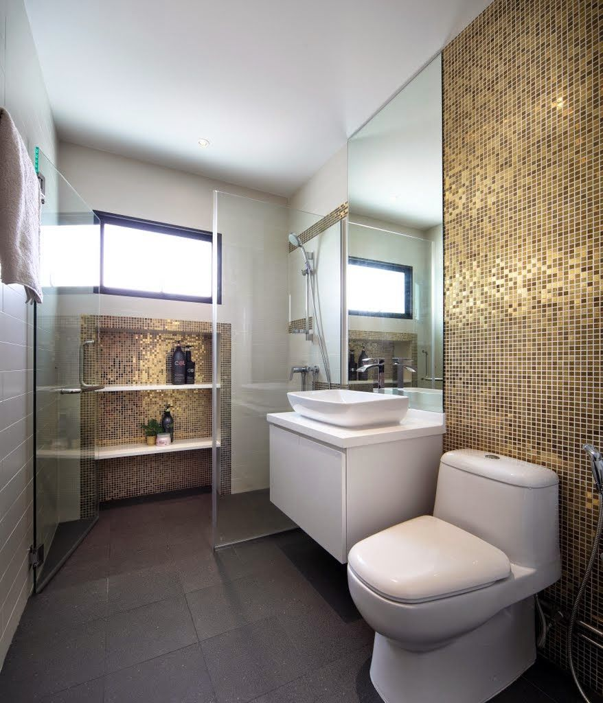 Gold Mosaic Wall Design Linear Space Concepts
