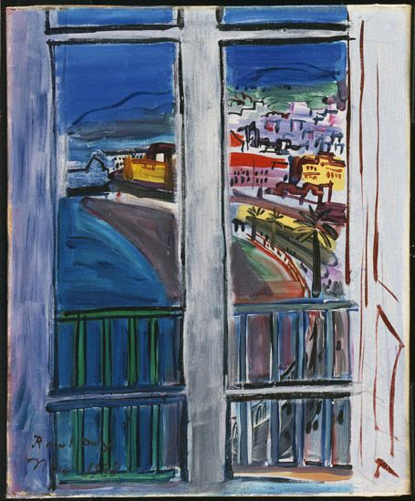 Window on the Promenade des Anglais, Nice, 1938 | Raoul Dufy (French, 1877 - 1953)