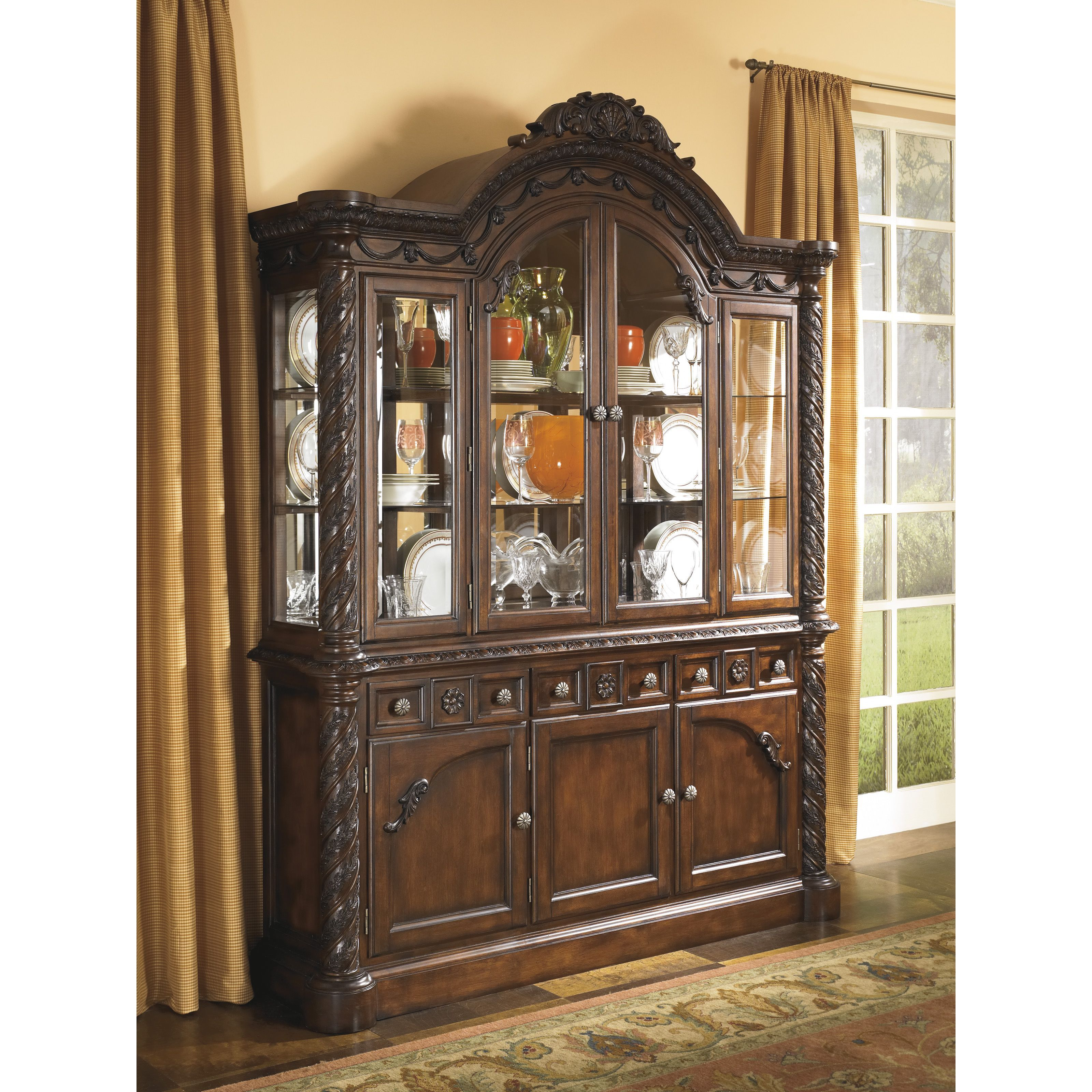 cabinet wine room with black dining sideboard buffet storage