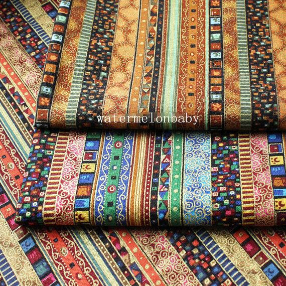 Boho Bohemian Fabric Upholstery Fabric Home Decor Fabric Cotton