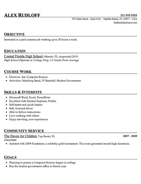Sample High School Student Resume Example High School Resume High School Resume Template Student Resume