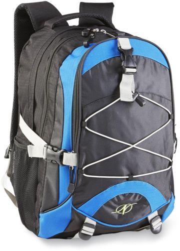 Boys School Backpack Trailblazer College Book Bag Strong Laptop Blue Black Large