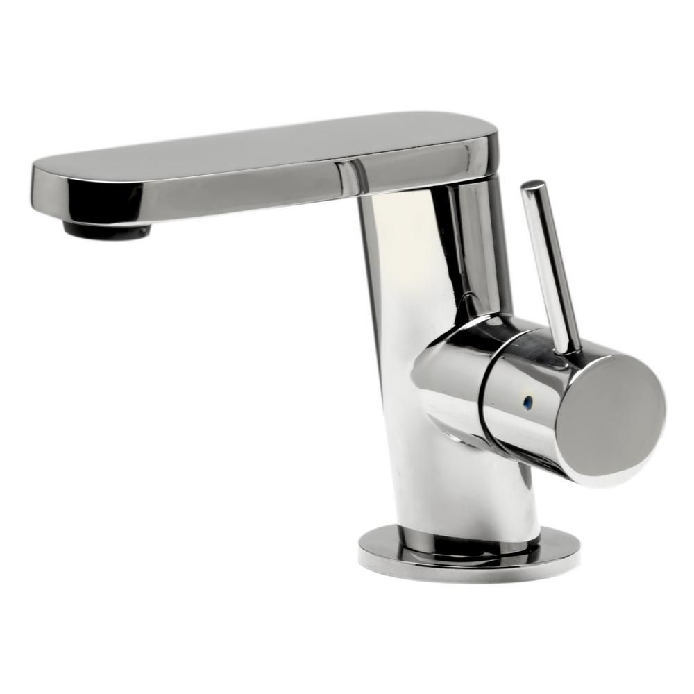 Alfi Brand Single Hole Single Handle Bathroom Faucet In Polished Stainless Steel Ab1010 Pss The Home Depot In 2020 Stainless Steel Faucets Bathroom Faucets Modern Bathroom Faucets
