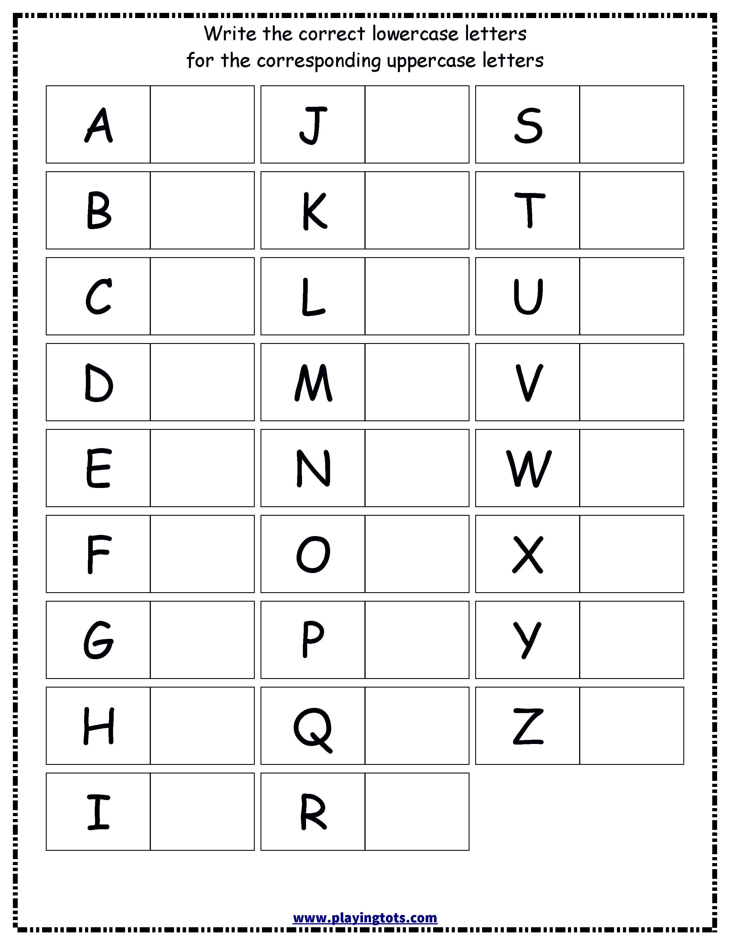 4 Capital And Small Alphabets Worksheets In