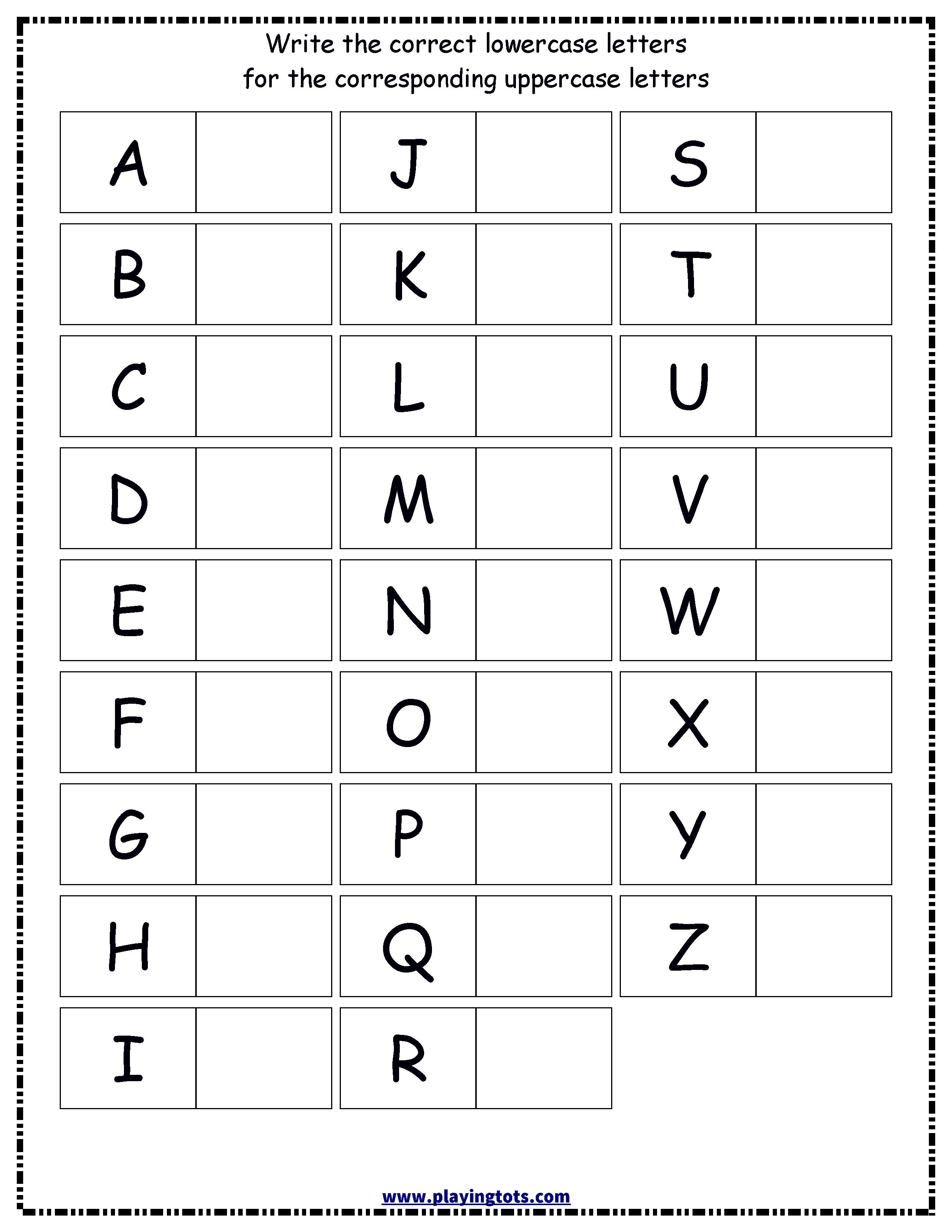 4 Capital And Small Alphabets Worksheets Free Printable Alphabet W Printable Alphabet Worksheets Alphabet Worksheets Kindergarten Alphabet Worksheets Preschool [ 3300 x 2550 Pixel ]