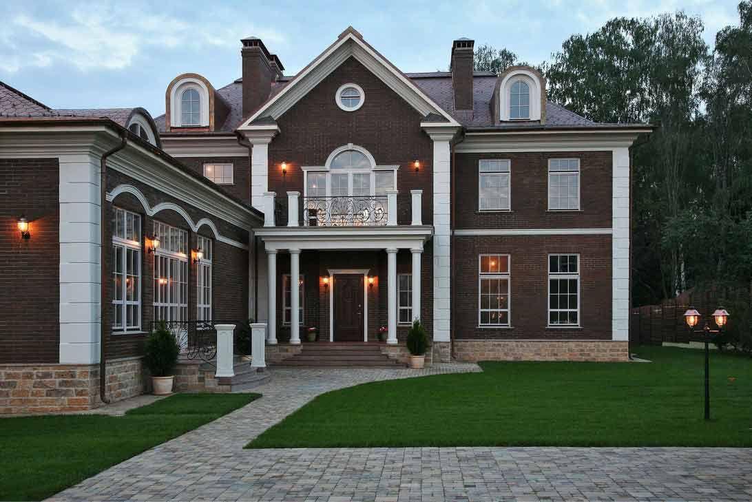 красивые дома в английском стиле фото между собой