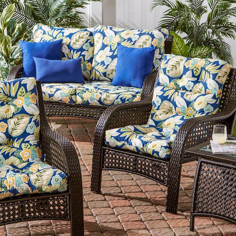 Outdoor High Back Chair Cushion Patio Chair Cushions Chair Cushions Patio Chairs