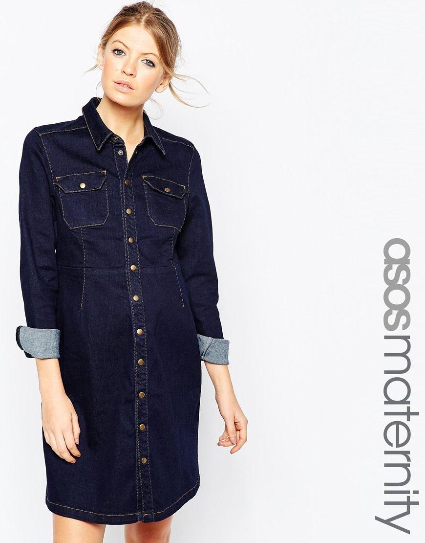 Asos maternity denim a line shirt dress maternity clothes asos maternity denim a line shirt dress ombrellifo Gallery