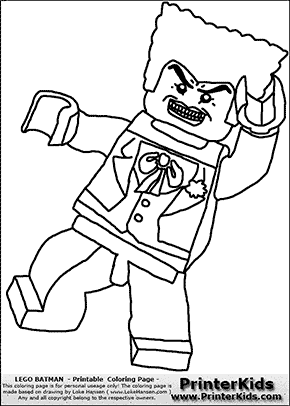 lego batman the joker coloring page - The Joker Coloring Pages