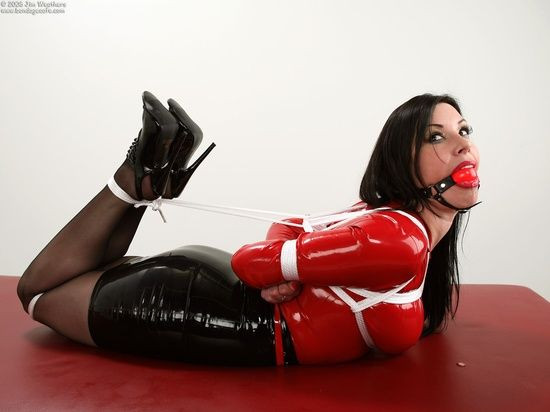 Strict Hogtie And Red Ball Gag Tied Up Pinterest