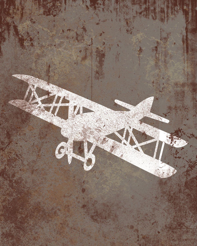 Vintage Airplane Wall Art vintage airplane nursery print - airplane nursery wall art - big