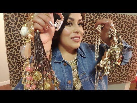 418d7c702482 Cómo hacer un bonito Collar de Moda rosa - YouTube