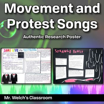 df85175efc11 Students will create a poster after doing research about protest and  movement songs. To be used while studying media influence on political and  personal ...