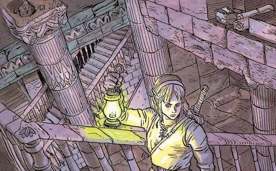 The Legend Of Zelda Link S Awakening Promotional Artwork By