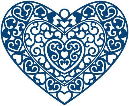 Tattered Lace Dies Cherished Locket Heart Die Cuts