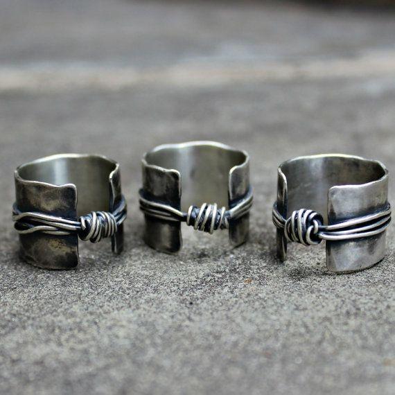 Plata esterlina anillo libra esterlina banda anillo por lsueszabo