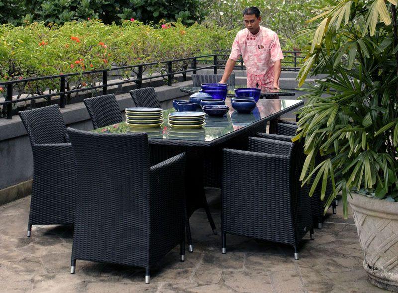 beau salon de jardin aluminium et resine tressee | Décoration ...