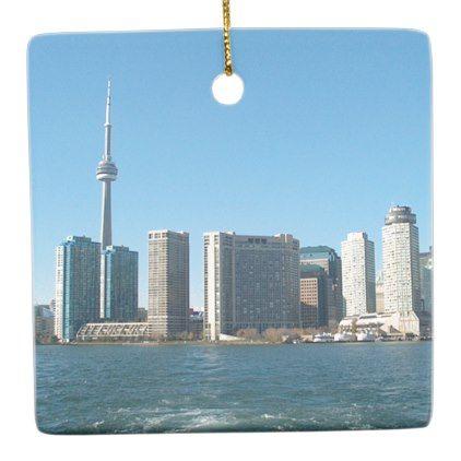 Cntower Cn Tower Toronto Lake Ontario Landmark Fun Ceramic Ornament Zazzle Com Birthday Fun Cn Tower Engagement Gifts