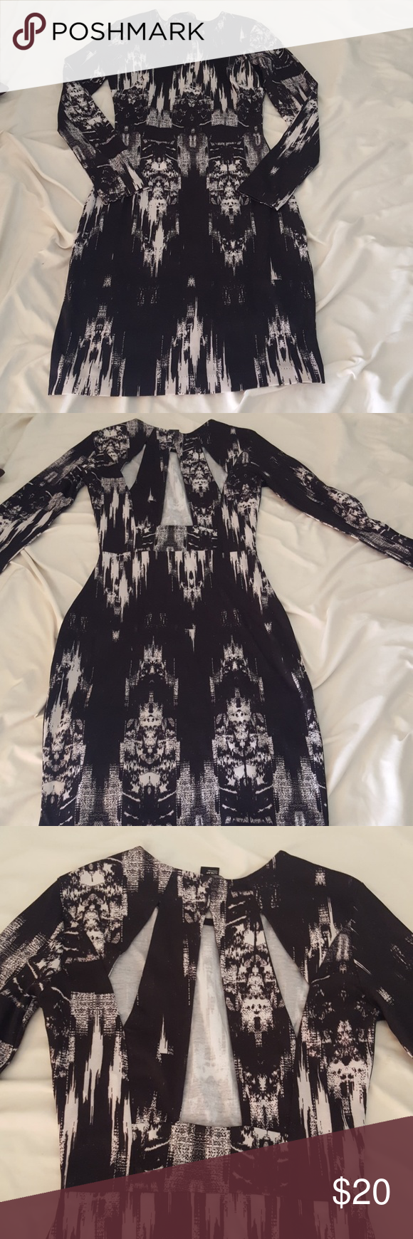 Black fitted dress with back cut out customer support
