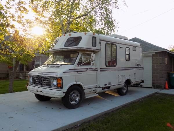used rvs 1978 dodge sportsman camper for sale by owner ideas for the house camper campers. Black Bedroom Furniture Sets. Home Design Ideas