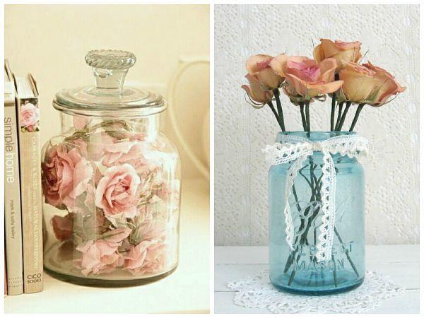 5 ideas para conservar tus rosas - Centro flores secas Cool Crafts - flores secas