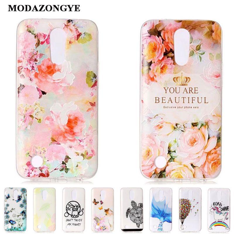 sale retailer cd423 a27a8 For LG K10 2017 Case LG K 10 2017 Cover Cartoon Soft TPU Phone Case ...