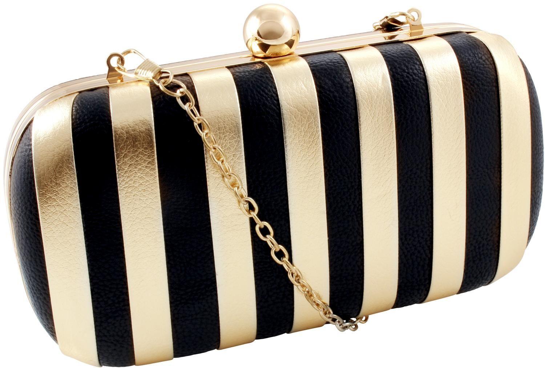 bijou brigitte clutch golden stripe the bag lady pinterest bag. Black Bedroom Furniture Sets. Home Design Ideas
