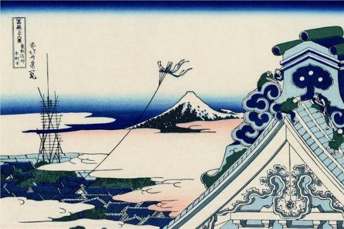 Asakusa Honganji Temple in the Eastern Capital ~ Katsushika Hokusai