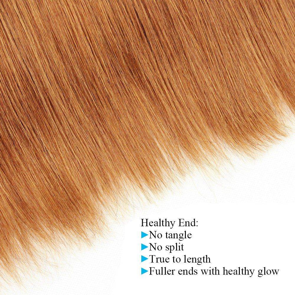 Kiss hair ombre human hair mix length silky straight two tone