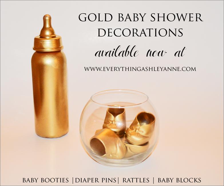 Gold Baby Shower Decorations #babyshower #gold | Ashley Anne Designs |  Pinterest