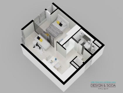 주거 도시형생활주택 인테리어 도면설계 원룸 투룸 인테리어도면설계 원룸 투룸도면칼라링 원룸 투룸 3d투시도 디자인엔소다 네이버 블로그 인테리어 투시도 생각