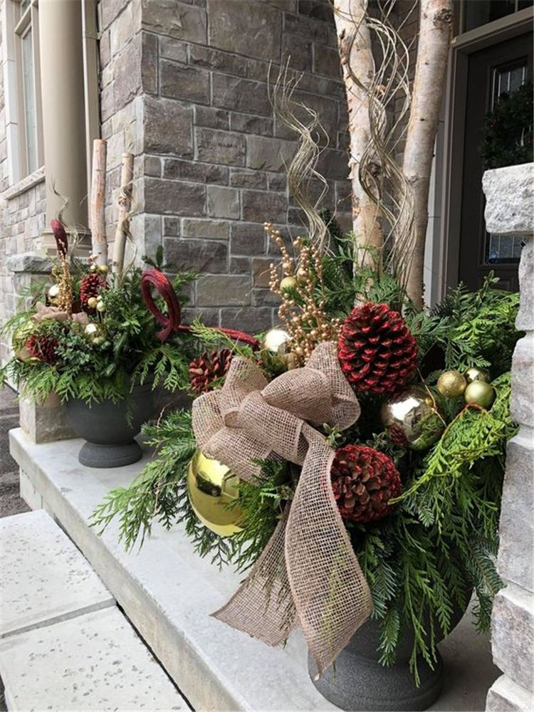 39++ Front porch pots for christmas ideas in 2021