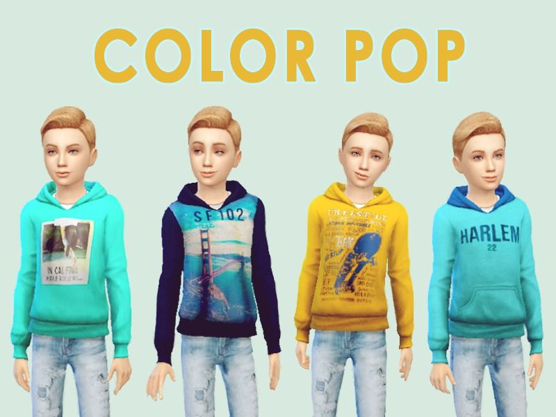 Pafmelap 39 s 17 awesome hoodie set sims 4 children for Awesome sims