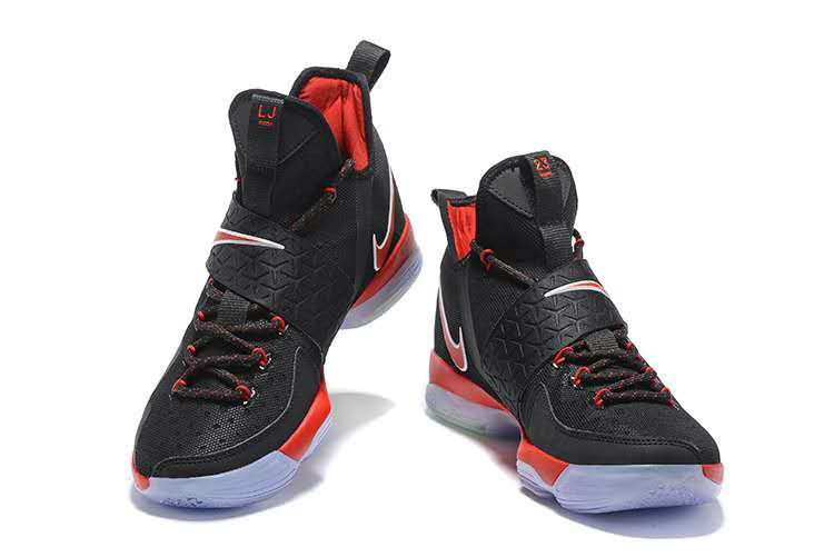 Newest And Cheapest LeBron 14 XIV Bred Black University Red 2017 Lebron  James Sneakers