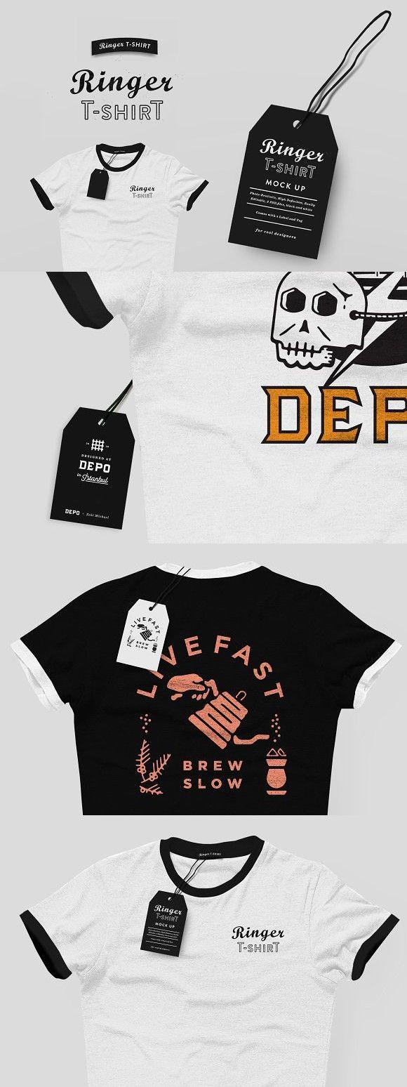 Download Ringer T Shirt Mock Up Tshirt Mockup T Shirt Shirts