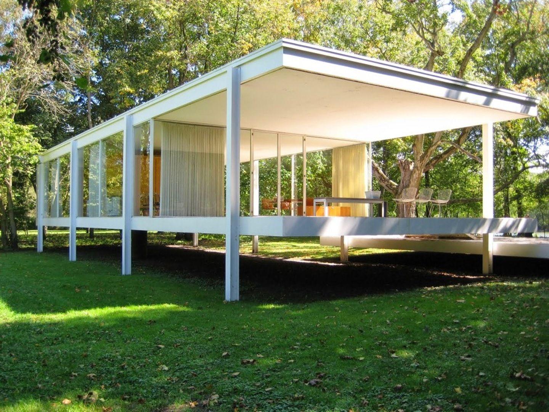 Casa farnsworth 1 i maestri mies van der rohe case for Architettura moderna case