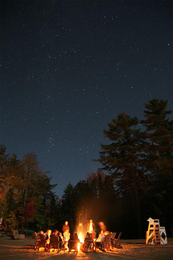 Camp Fire Muskoka Chair Starry Night Muskoka Woods Go