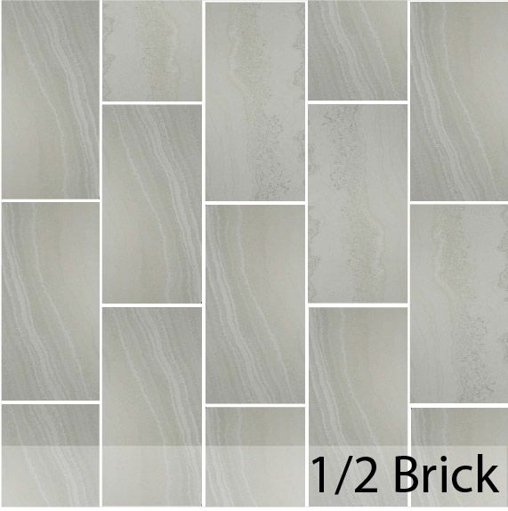 Half Brick Pattern Of Tile