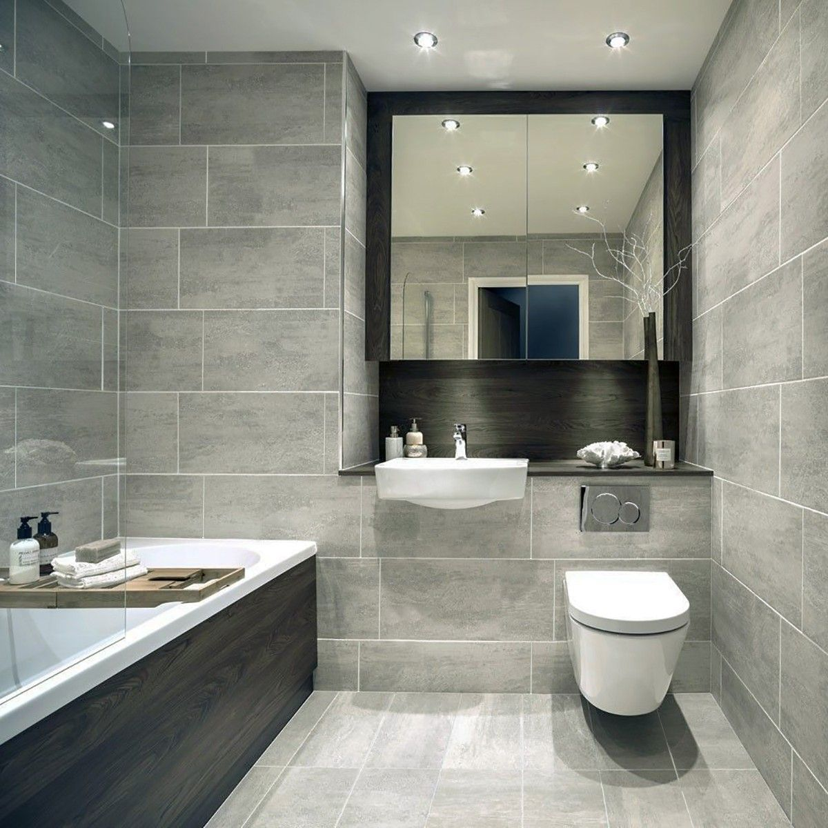 Indiana Grey Porcelain Wall Floor Tiles Grey Bathroom Floor Grey Bathroom Tiles Bathroom Interior Design
