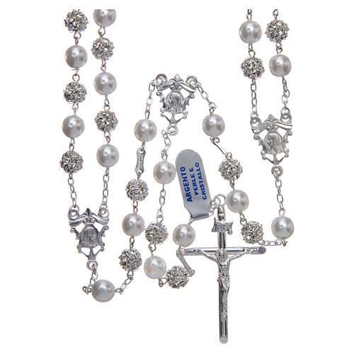 43cc2285da09a Terço mexicano de casamento prata 925 pérolas e strassball 8 mm  terço   terços