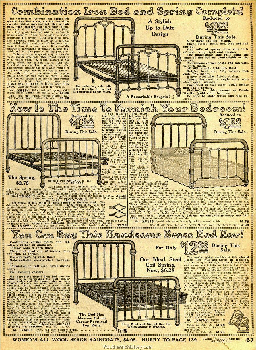 Superb 1914 Sears Household Catalog Bed Frames